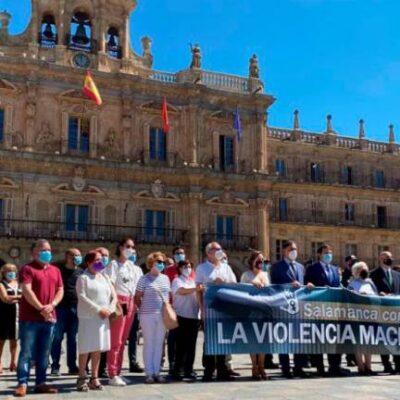Actos de condena en Castilla y León por el crimen machista de Doñinos (Salamanca)