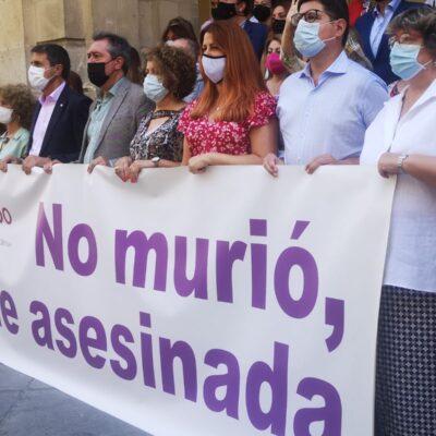 REPULSA POR EL ASESINATO MACHISTA DE MARI ÁNGELES, AYER EN  MÁLAGA